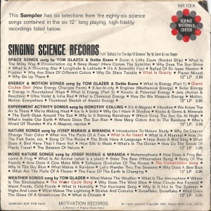 Singing Science Sampler (back cover)
