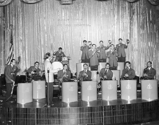 Stan Kenton and his orchestra at the Palladium, Hollywood. 1941.