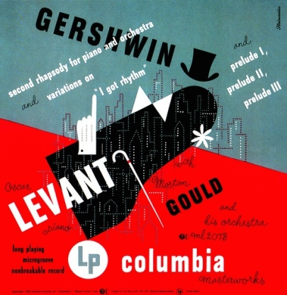 1950+Gershwin+Second+Rhapsody+for+Piano+and+Orchestra+-+Variations+on+'I+Got+Rhythm'+-+Preludes+1,+2,+3+[Columbia+Masterworks+catalogue+no.+ML+2073+signed+Steinweiss