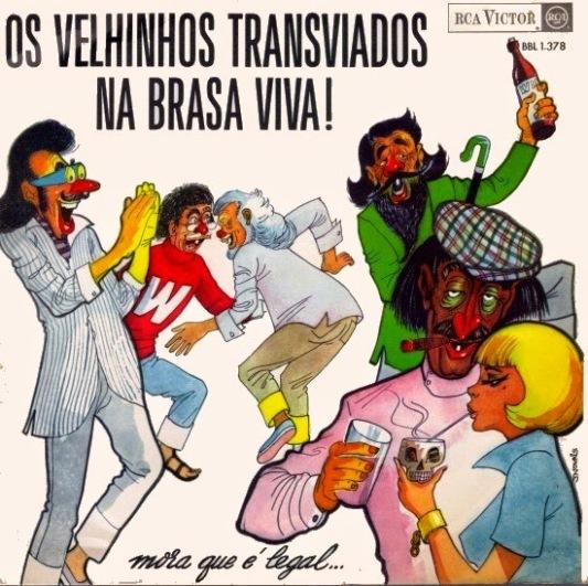 OS VELHINHOS TRANSVIADOS-NA BRASA VIVA!-1966-CAPA