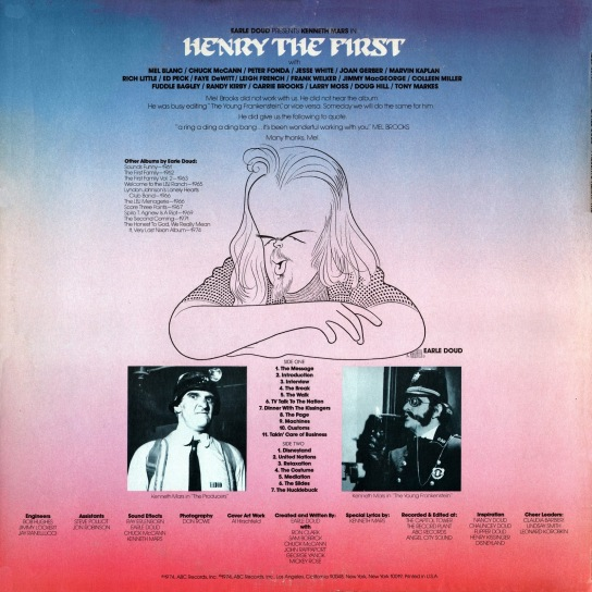 Ken Mars - Henry The First back