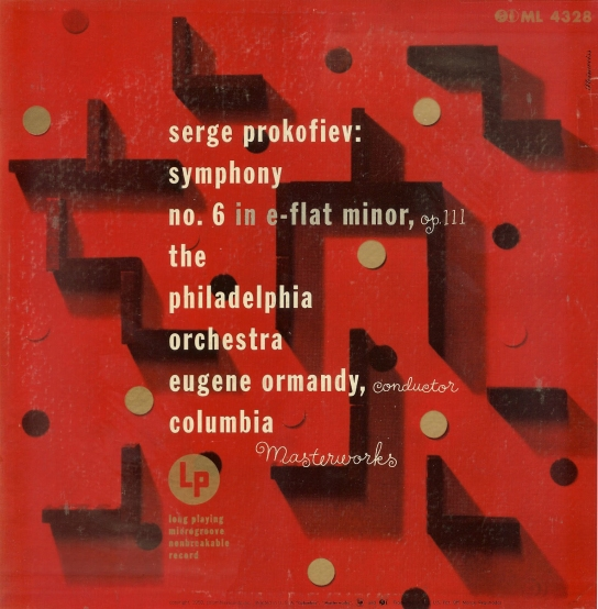 1950+Serge+Prokofiev+Symhony+No.+6+in+E-Flat+Minor,+Op.+111+[Columbia+Masterworks+catalogue+no.+ML+4328+signed+Steinweiss
