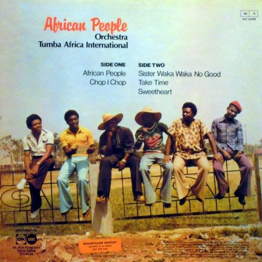 Orchestra Tumba Africa, back