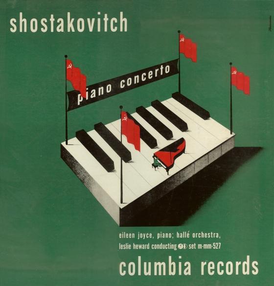 1946+Shostakovitch+Piano+Concerto+[Columbia+Masterworks+catalogue+no.MM+527]+signed+Steinweiss