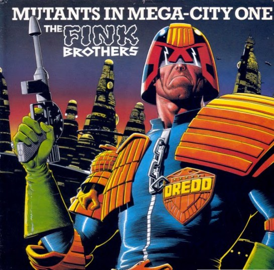 the fink brothers - mutants in mega-city one - single front cover