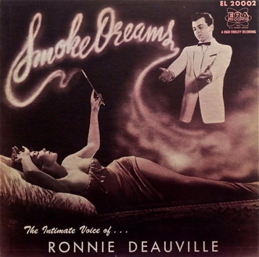 the-intimate-voice-of-ronnie-deauville-smoke-rings-lp-vinyl-record-album-with-sexy-cheesecake-cover-glamourizing-cigarettes