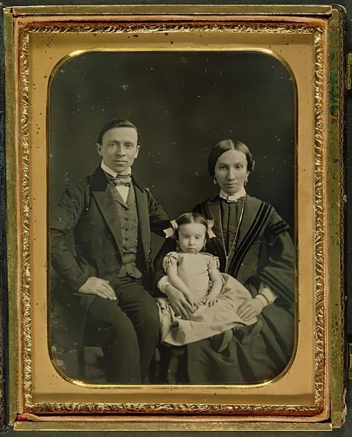 English Photographer - The Hiller family c1850 (daguerreotype) - (MeisterDrucke-324897)