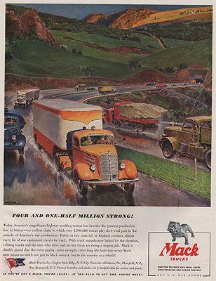 ORIG-VINTAGE-MAGAZINE-AD-1943-MACK-TRUCK-ADillustrator--Peter--Helck414527-125922